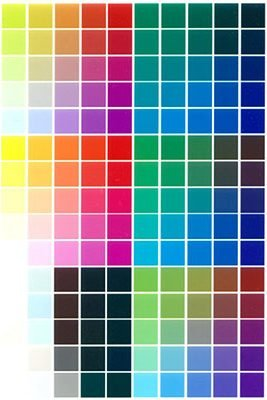 Full Color Palette - Dye Sublimation Printing